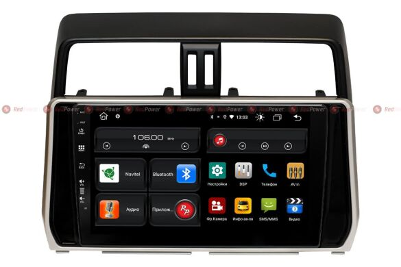 Штатная магнитола для Toyota Land Cruiser Prado 150 (2018+) на Android 10 RedPower 61365